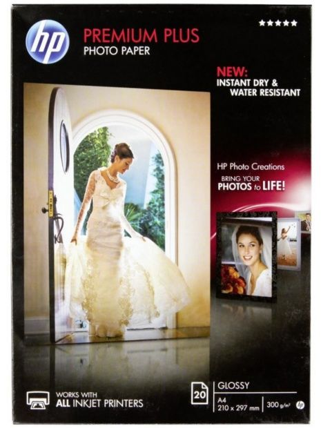 Papier HP A4 Photo Premium Plus, błyszczący 300g (20 ark.) (CR672A)