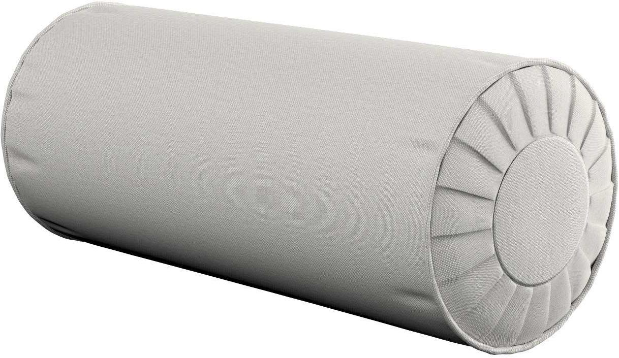 Poduszka wałek z zakładkami, jasny popiel, Ø20  50 cm, Etna
