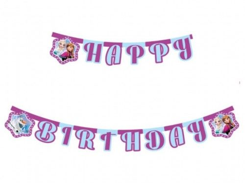 Baner urodzinowy Frozen , Kraina Lodu