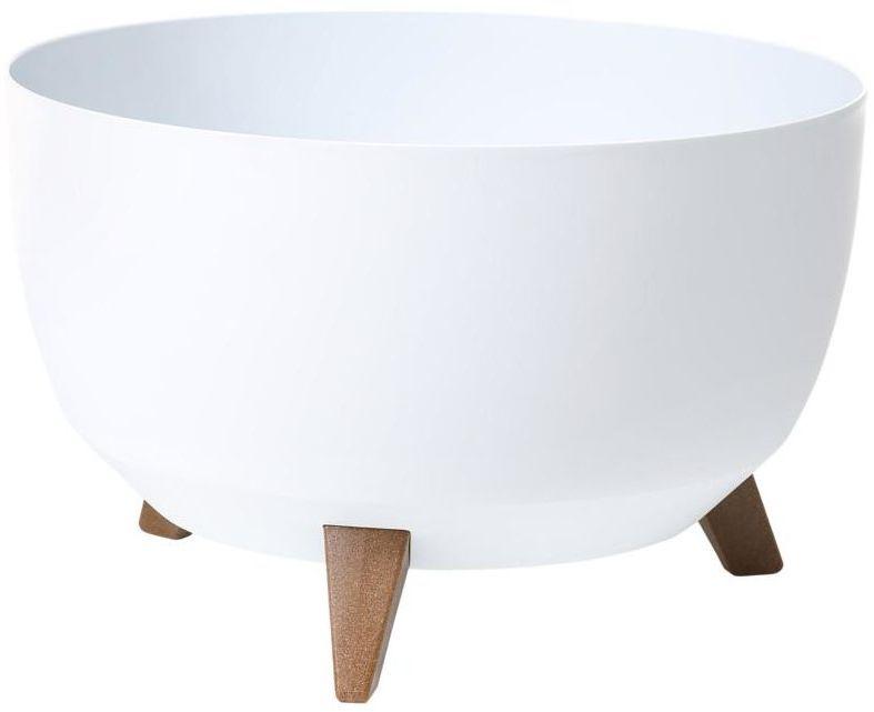 Donica MISA ROMA śr. 29 cm biała LAMELA