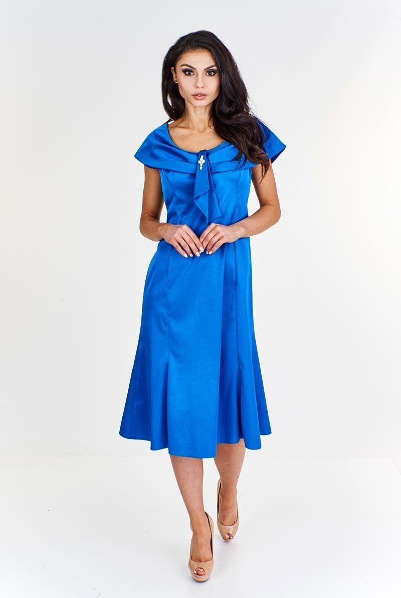Sukienka FSU192 CHABROWY