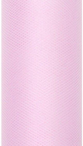 Tiul dekoracyjny jasnoróżowy 50cm rolka 9m TIU50-081J - JASNY RÓŻOWY 50CM