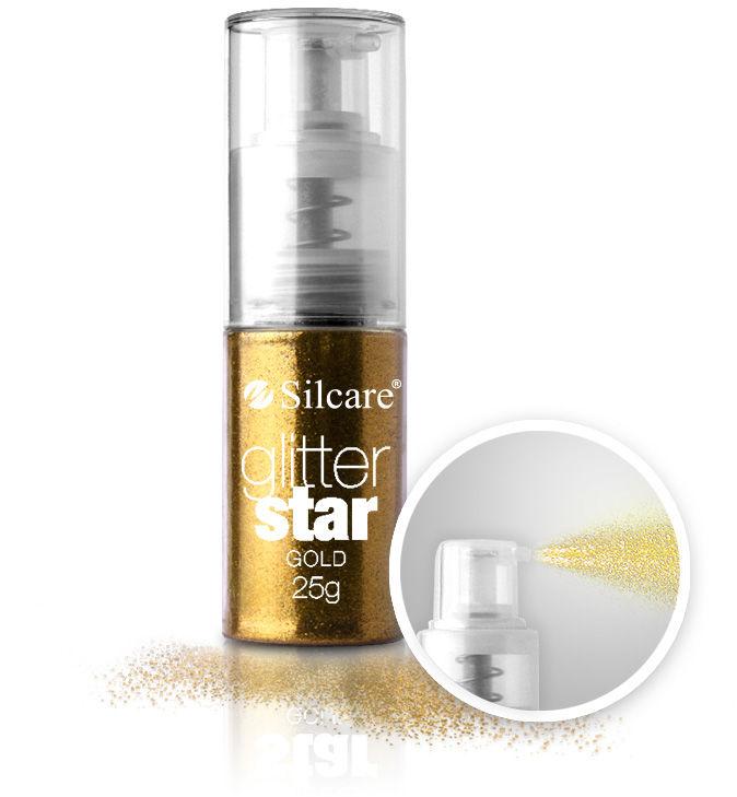 Brokat Glitter Star z pompką Gold 25 g