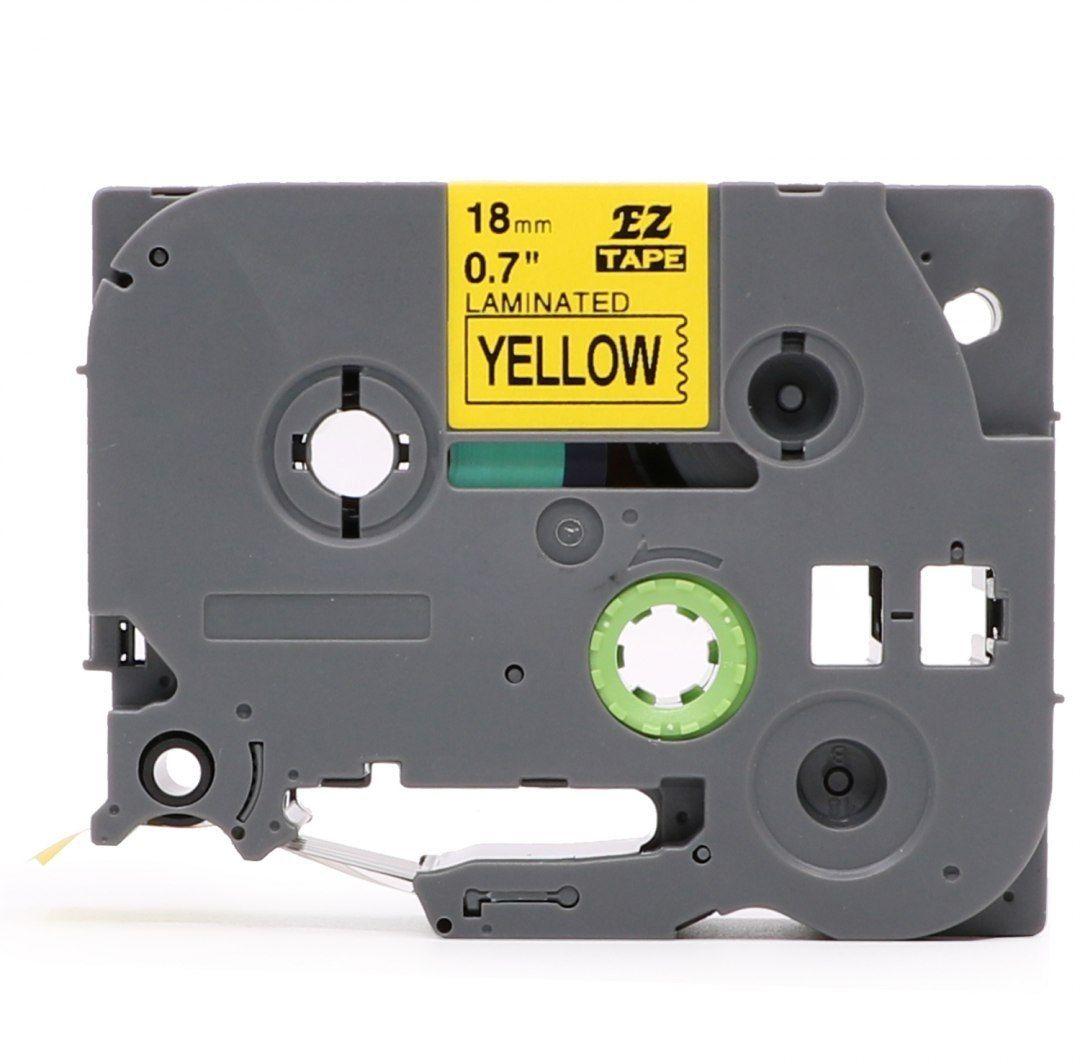 Taśma Brother TZe-FX641 Flexi Elastyczna 18mm x 8m żółta czarny nadruk - zamiennik OSZCZĘDZAJ DO 80% - ZADZWOŃ!
