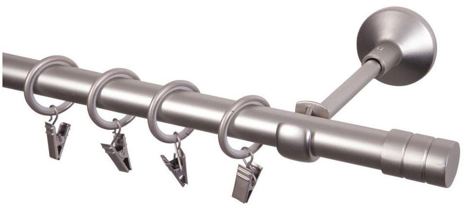 Karnisz FORIO 200 cm pojedynczy satyna 19 mm metalowy INSPIRE