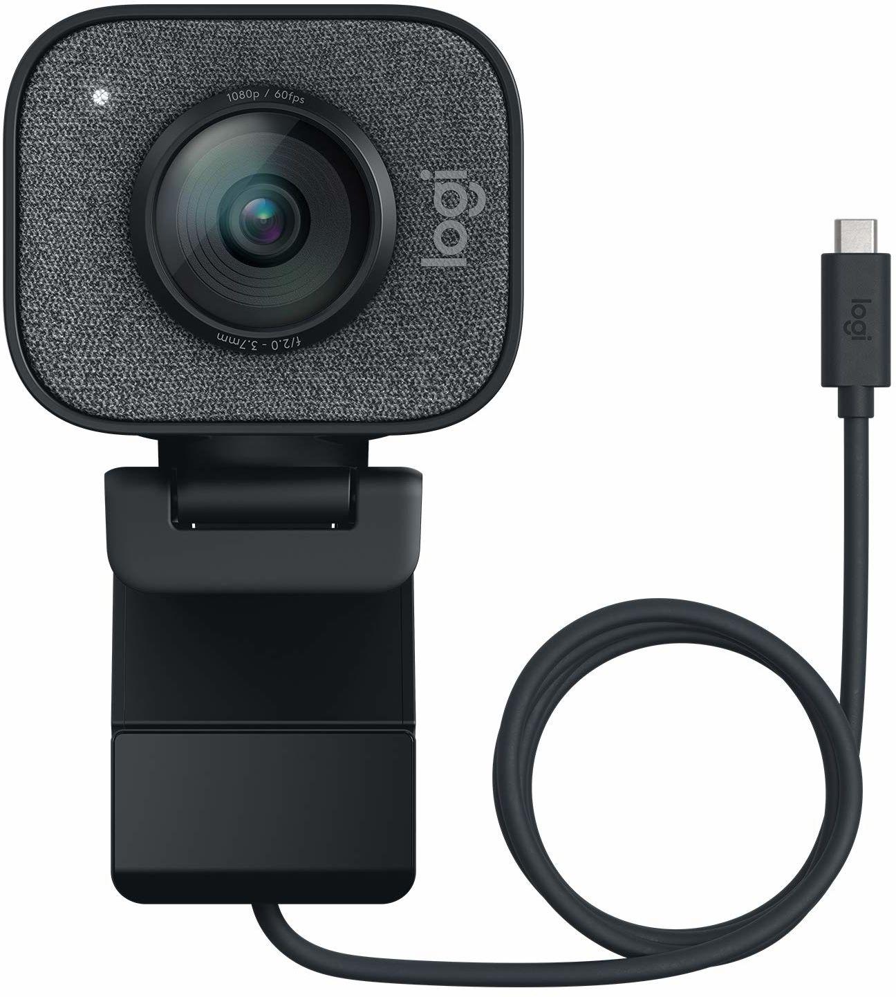 Logitech Streamcam Kamera Full Hd Ze Złączem Usb Typu C Do Przesyłania Strumieniowego Na Żywo I Tworzenia Treści, Pc/Mac - Szary,960-001281