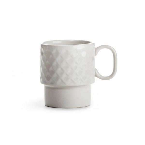 Sagaform COFFEE RETRO Filiżanka do Kawy 250 ml Biała