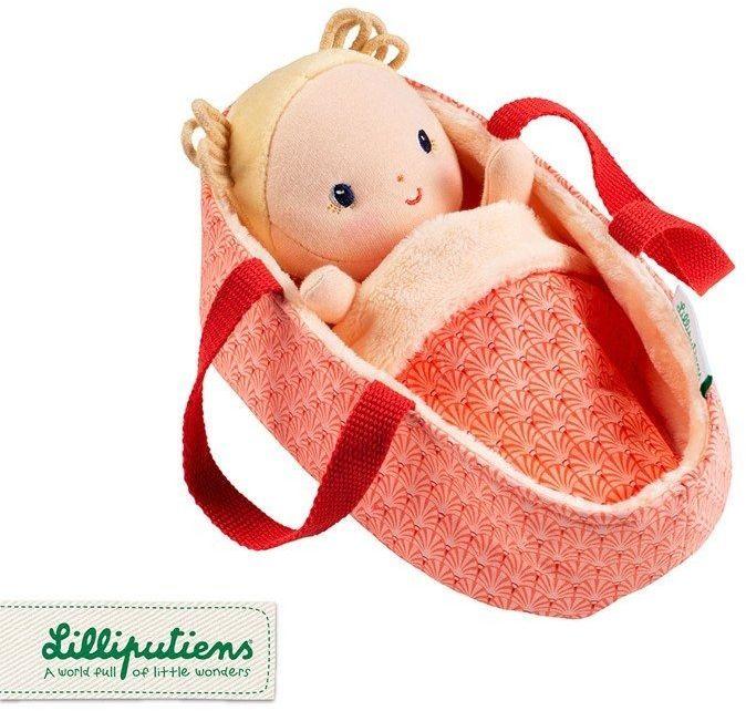 Lalka dzidziuś w koszyczku z ubrankiem i kocykiem Anais 83131-Lilliputiens