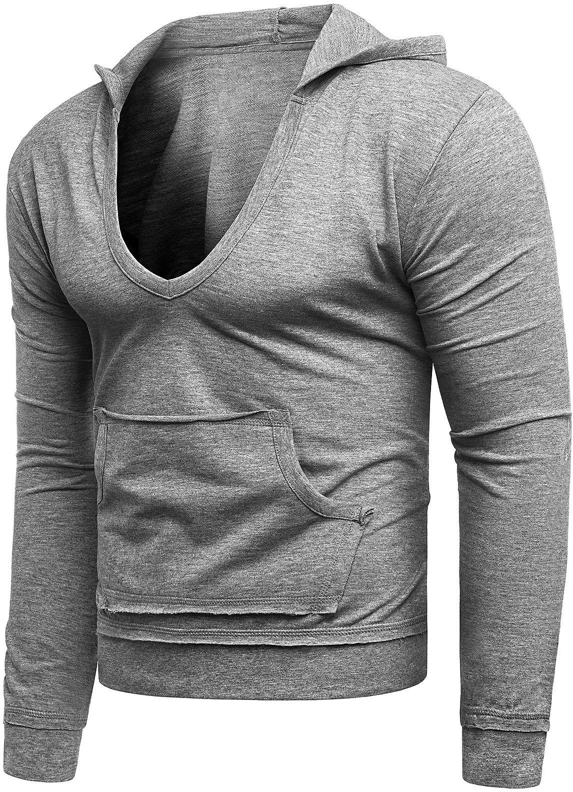 Męska bluza - ROLLY 1102 - szary