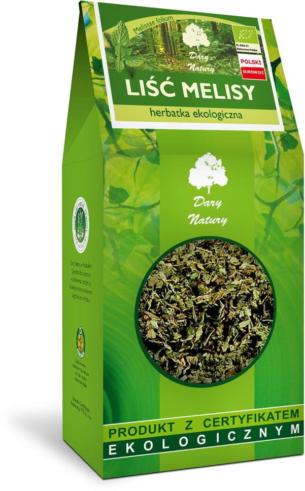 Herbatka Liść Melisy BIO 100g - Dary Natury