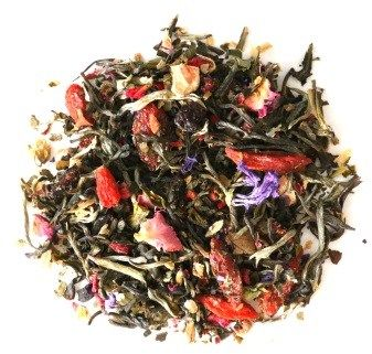 Herbata biała o smaku malinowe goi 100g