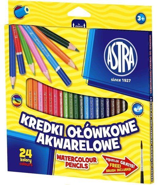 Kredki ołówkowe akwarelowe 24 kolory ASTRA - ASTRA papiernicze