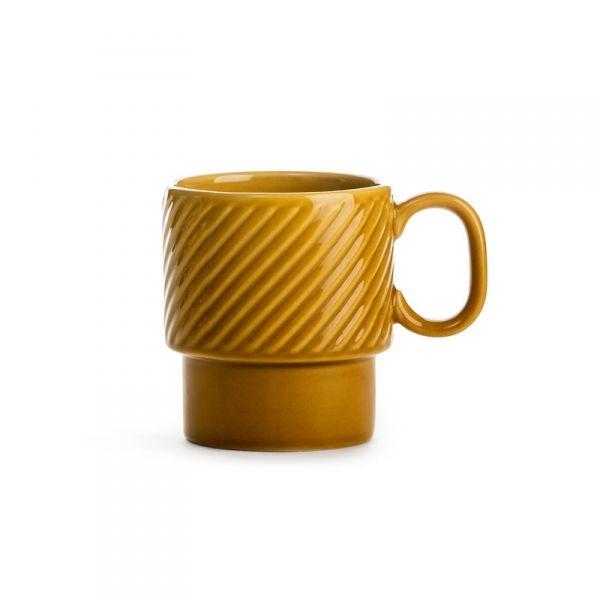 Sagaform COFFEE RETRO Filiżanka do Kawy 250 ml Żółta