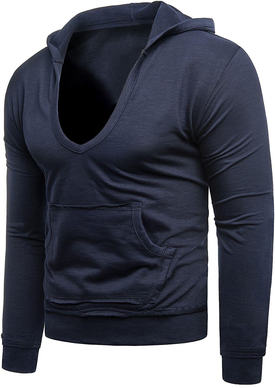 Męska bluza - ROLLY 1102 - granatowy