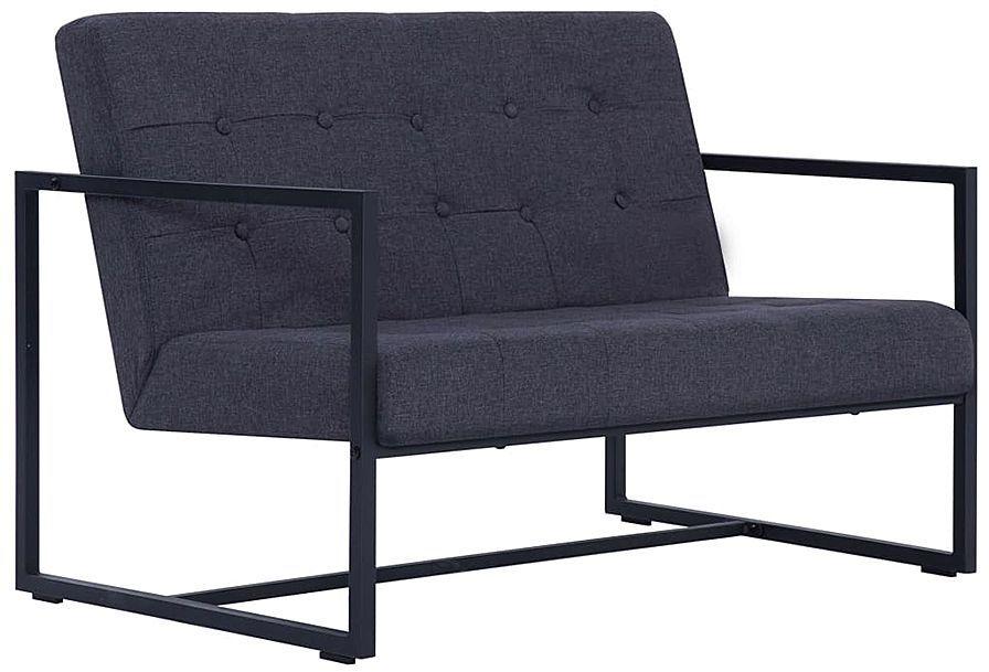 Dwuosobowa grafitowa sofa - Mefir