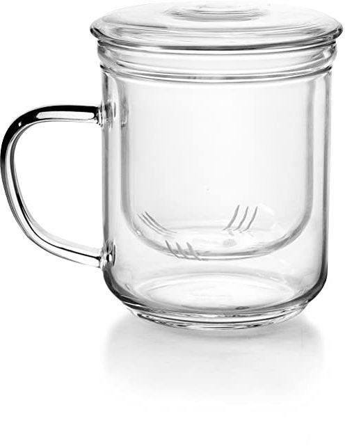 Ibili 624500 filiżanka do herbaty z filtrem, szkło, przezroczysta, 12 x 10 x 14 cm