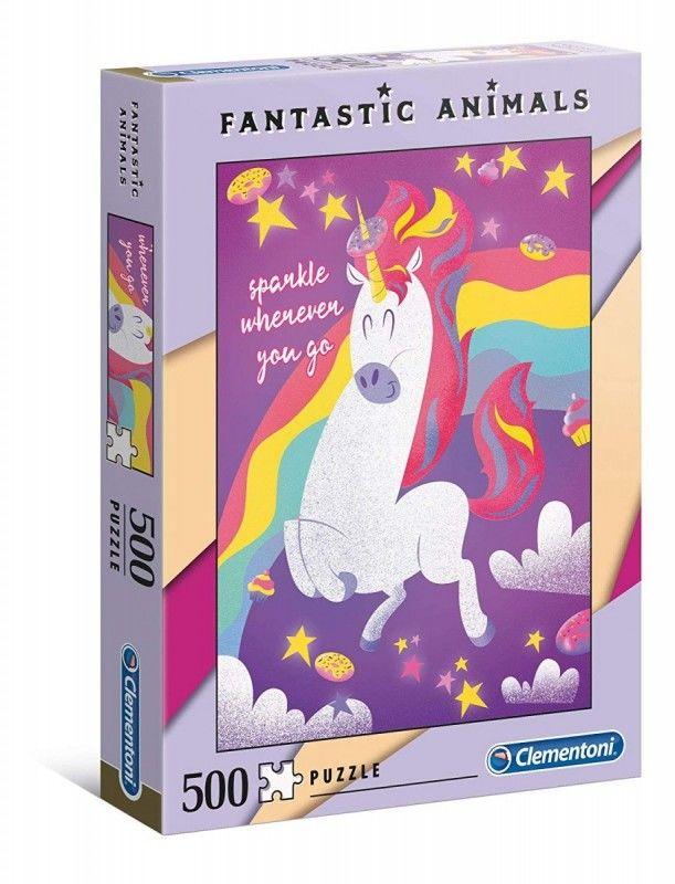 Puzzle 500 elementów Fantastic Animals - Jednorożec