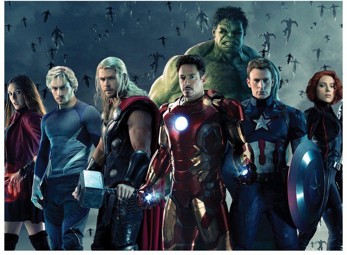 Dekoracyjny opłatek tortowy Avengers - A4