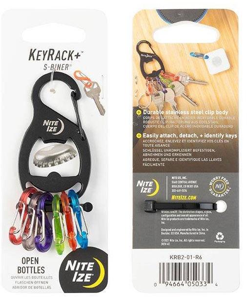 Brelok Nite Ize KeyRack+ S-Biner Black - KRB2-01-R6 (32683) SP