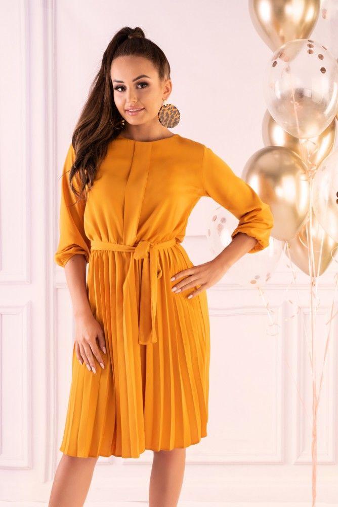 Messina Yellow D40 sukienka
