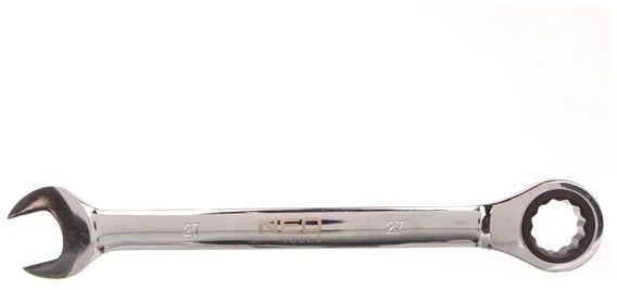 Klucz płasko-oczkowy z grzechotką 27 mm 09-044