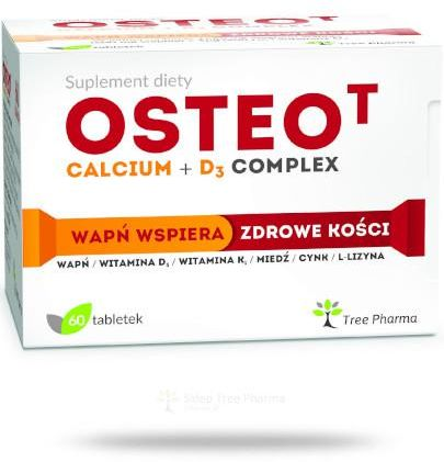 Osteo T Calcium + D3 Complex 60 tabletek