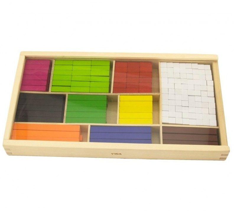 Viga Drewniane Patyczki Edukacyjne Matematyczne do Nauki Liczenia