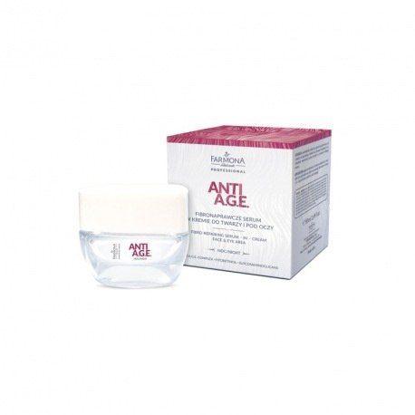 ANTI A.G.E. Fibronaprawcze serum w kremie do twarzy i pod oczy na noc - op. 50ml