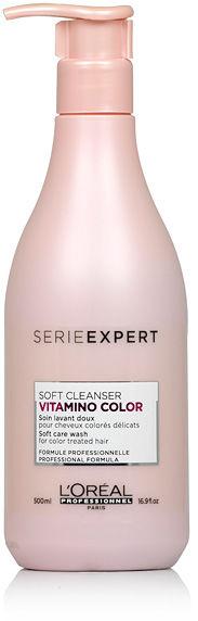 Loreal Vitamino Color Soft Cleanser Szampon do włosów koloryzowanych, wrażliwych 500 ml