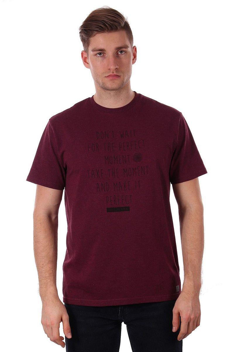 Bordowy T-shirt Męski z Motywacyjnym Napisem, Krótki Rękaw, Just Yuppi, Koszulka, Motto TSJTYUP9223kol5BORDO