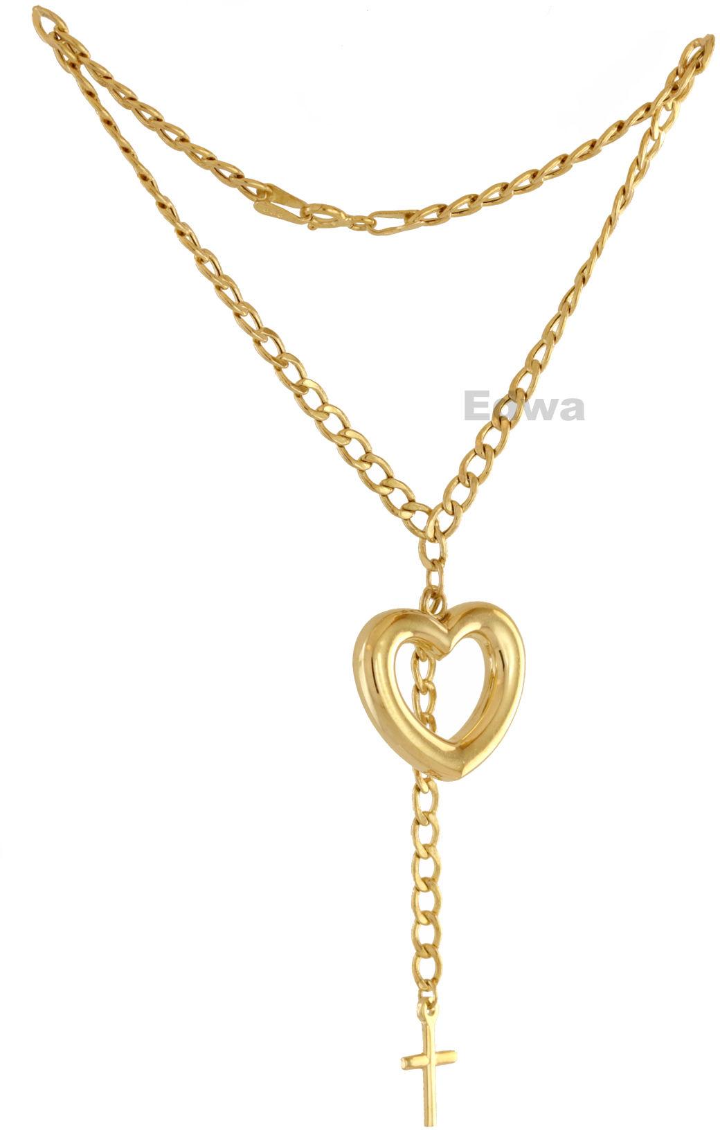 Bransoletka złota z zawieszkami Sercem i krzyżykiem pr.585