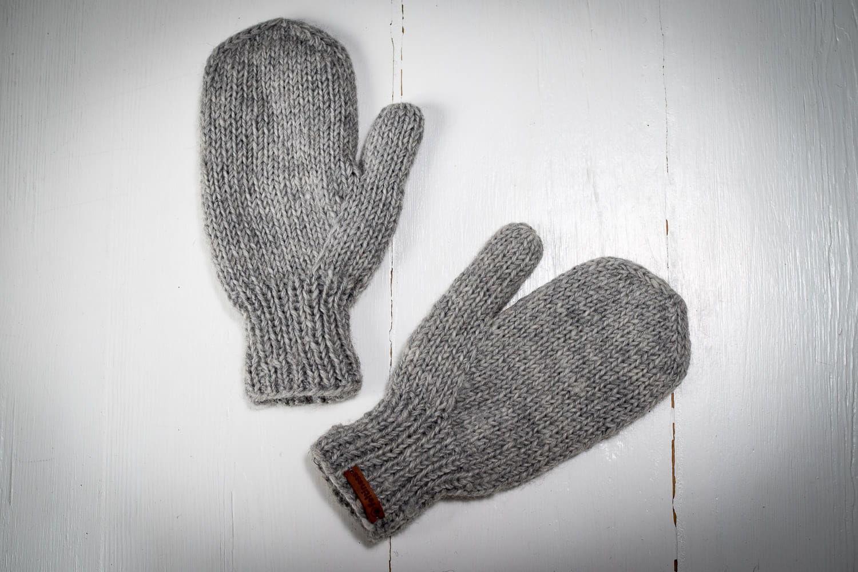 Rękawiczki wełniane jasny popiel