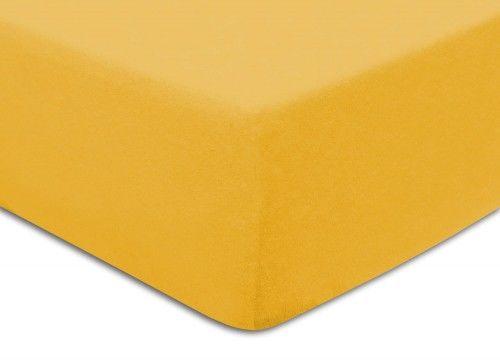 Prześcieradło Frotte Z Gumką 90x200 Żółte Darymex