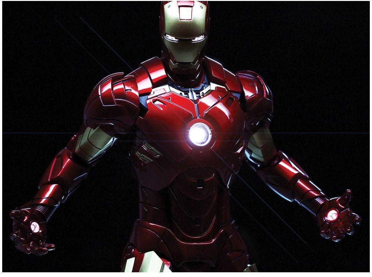 Dekoracyjny opłatek tortowy Iron Man Avengers - A4