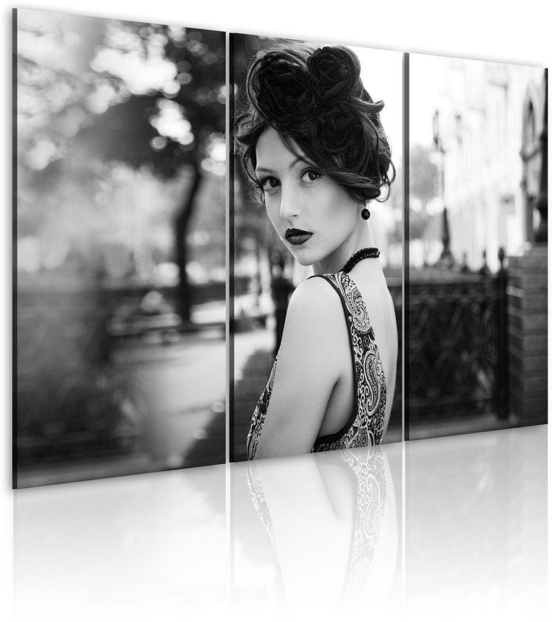 Obraz - elegancka kobieta w stylu retro