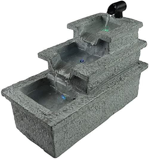 Zen''Light SCFR19-C10 fontanna pokojowa, żywica syntetyczna, szara, 13 x 25 x 19 cm