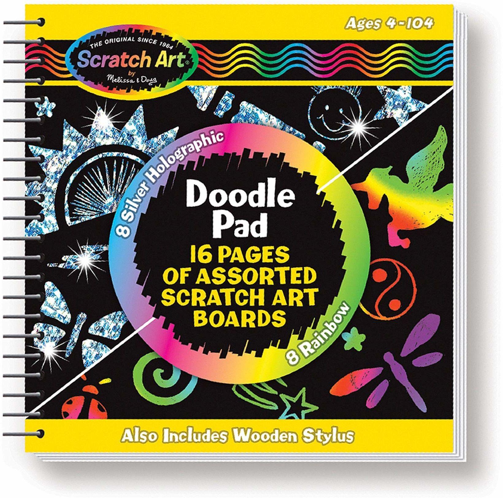 Melissa & Doug 15956 odsłaniające kolory obrazy zdrapek: Motyle i kwiaty