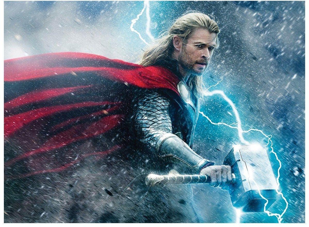 Dekoracyjny opłatek tortowy Thor Avengers - A4