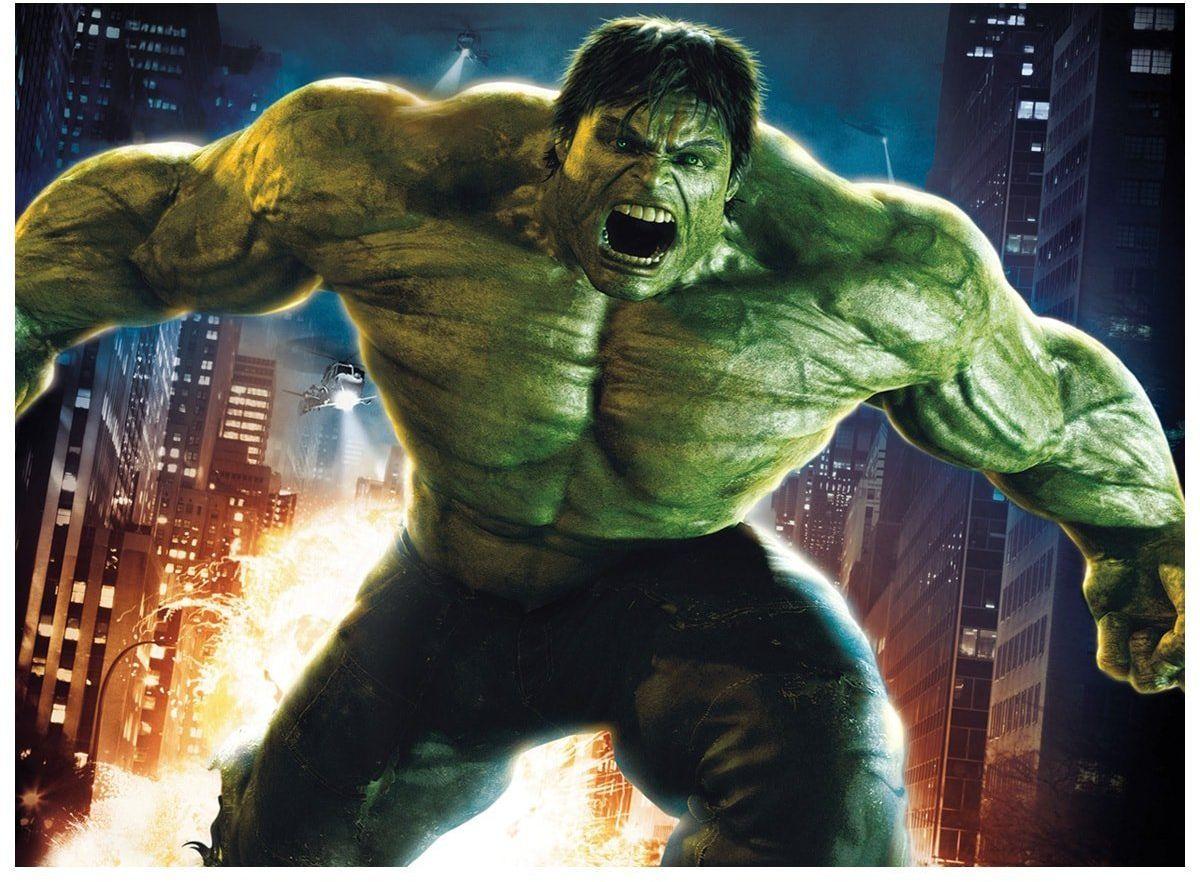 Dekoracyjny opłatek tortowy Hulk Avengers - A4