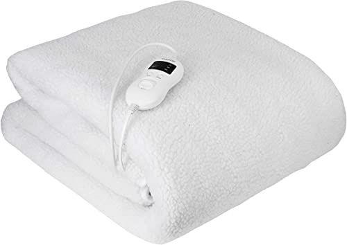 Camry CR-7422 elektryczne ogrzewanie łóżka, 85 W, 8 stopni temperatury, timer, można prać, 160 x 100 cm, ochrona przed przegrzaniem, polar, kolor biały, 160 x 100 cm