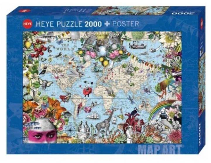 Puzzle 2000 Dziwny świat (Puzzle+plakat) - Heye