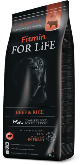 Fitmin DOG FOR LIFE ADULT BEEF & RICE - 14KG