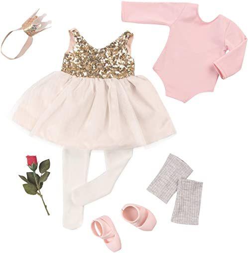 OUR GENERATION Ubrania dla lalek - noc otwarcia - Deluxe balerina strój dla lalki 46 cm - od 3 lat, 4 lat i więcej