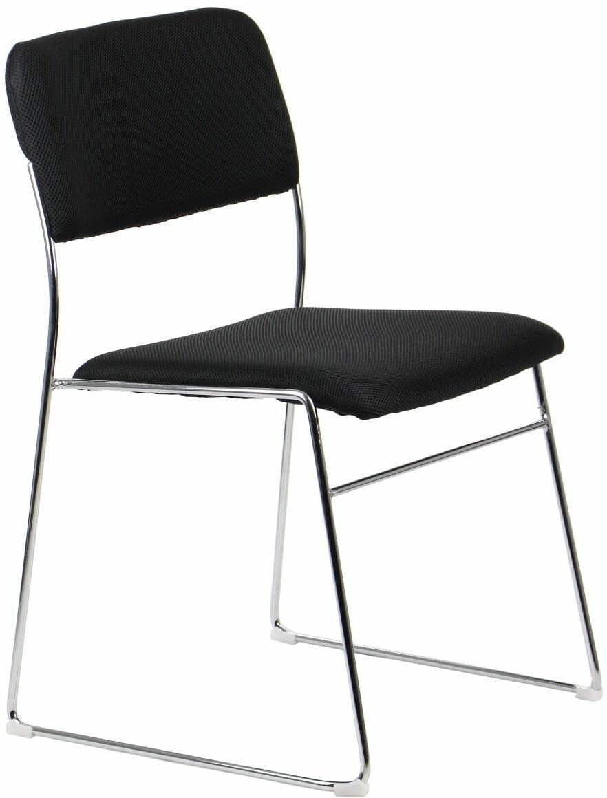 Krzesło konferencyjne, biurowe na stelażu chromowanym CN-62/CH/CZARNY