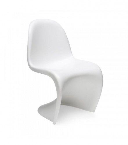 Krzesło dziecięce Hover Junior insp. Panton białe