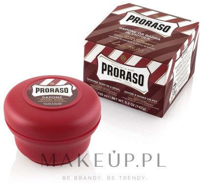 Proraso linia czerwona odżywiające skórę mydło do golenia 150 ml