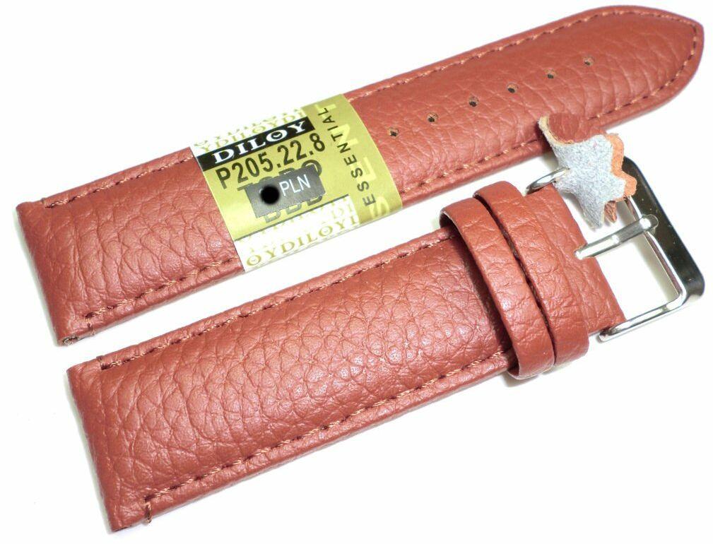 Skórzany pasek do zegarka 22 mm Diloy P205.22.8