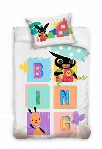 Pościel do łóżeczka Królik Bing 100x135 Carbotex