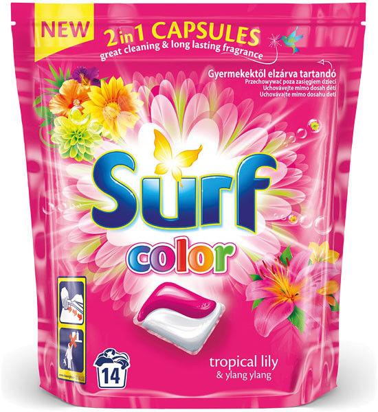 Surf Kapsułki do prania 2w1 Color Tropical Lily & Ylang Ylang 14szt