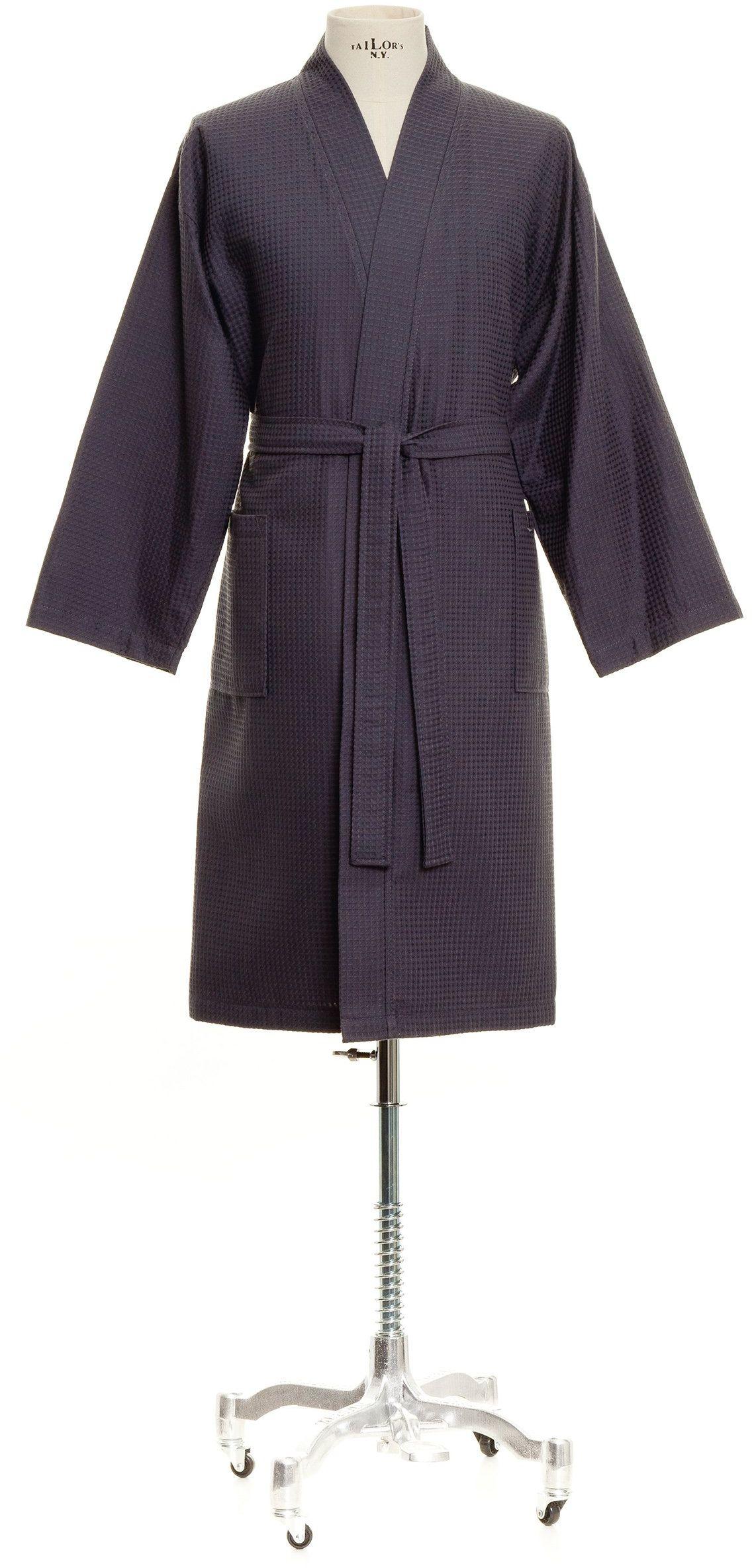 Möve Homewear kimono pika waflowa w rozm. M ze 100% bawełny, grafitowa